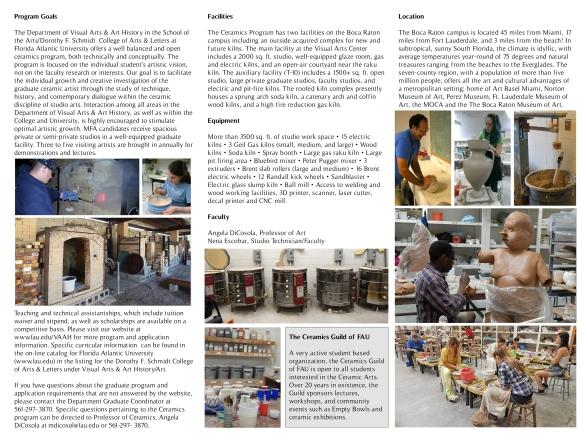 FAU 2015 Ceramic brochure inside
