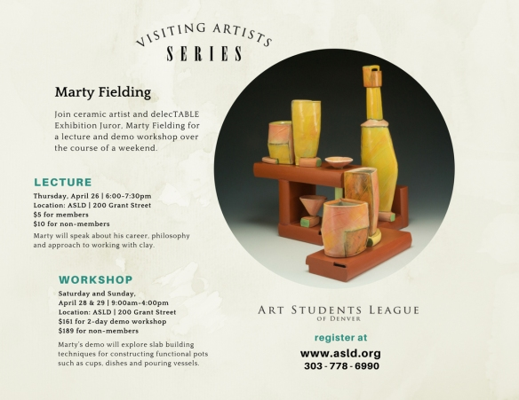 Visiting Artist Marty Fielding April 2018